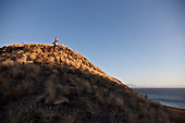 INDONESIA, Sumbawa achipelago; Banta , deserted island, tourists treking