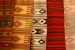 Colorful display of rugs in downtown Nogales, Sonora, Mexico