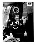 Former presidential security detail worker aboard a mock-up of a Reagan-era Air Force One. Polaroid Portraiture and Reportage from the 2008 Political Conventions