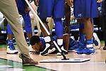 MILWAUKEE, WI - MARCH 18: Middle Tennessee Blue Raiders guard Antwain Johnson (2) grimaces in pain on the floor after a foul during the first half of the 2017 NCAA Men's Basketball Tournament held at BMO Harris Bradley Center on March 18, 2017 in Milwaukee, Wisconsin. (Photo by Jamie Schwaberow/NCAA Photos via Getty Images)