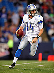 3 September 2009:  Detroit Lions' quarterback Brooks Bollinger in action during a pre-season game against the Buffalo Bills at Ralph Wilson Stadium in Orchard Park, New York. The Lions defeated the Bills 17-6...Mandatory Photo Credit: Ed Wolfstein Photo