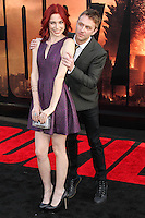 """HOLLYWOOD, LOS ANGELES, CA, USA - MAY 08: Chloe Dykstra, Chris Hardwick at the Los Angeles Premiere Of Warner Bros. Pictures And Legendary Pictures' """"Godzilla"""" held at Dolby Theatre on May 8, 2014 in Hollywood, Los Angeles, California, United States. (Photo by Xavier Collin/Celebrity Monitor)"""