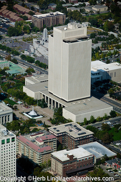 aerial photograph LDS Church Office Building, Salt Lake City, Utah