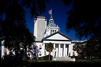 TALLAHASSEE, FLA. 10/1/10-OLD CAPITOL 100110 CH-Florida's Old Capitol and Capitol buildings in Tallahassee, Fla...COLIN HACKLEY PHOTO