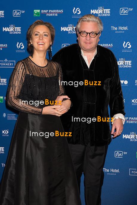 Princesse Claire de Belgique &amp; le prince Laurent de Belgique :  7&egrave;me C&eacute;r&eacute;monie des Magritte du Cin&eacute;ma, qui r&eacute;compense le septi&egrave;me art belge, au Square, &agrave; Bruxelles.<br /> 7th edition of the Magritte du Cinema awards ceremony.<br /> Belgium, Brussels, 4 February 2017