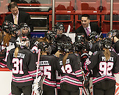 Jeff Pellegrini (NU - Assistant Coach) - The Northeastern University Huskies defeated the visiting Providence College Friars 8-7 on Sunday, January 20, 2013, at Matthews Arena in Boston, Massachusetts.