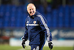St Johnstone v Hearts.....18.01.14   SPFL<br /> All smiles on the face of Billy Brown at full time<br /> Picture by Graeme Hart.<br /> Copyright Perthshire Picture Agency<br /> Tel: 01738 623350  Mobile: 07990 594431