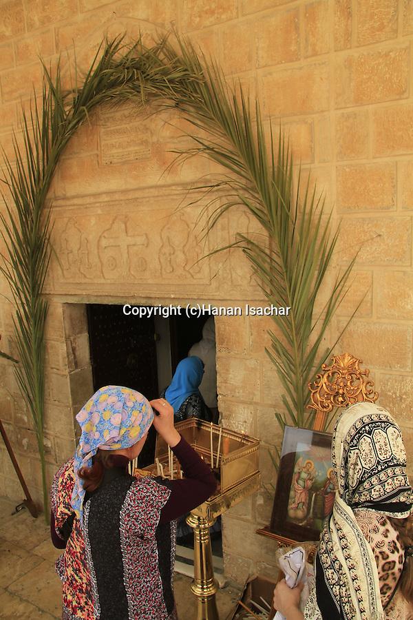 Israel, Nazareth, Annunciation Day at the Greek Orthodox Church of the Annunciation, the Church of St. Gabriel