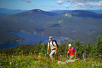 Wells Gray Provincial Park, British Columbia, Canada, August 2006. Central mountain is a strenuous affair, but its rewarded with a panoramic view over Murtle lake and the surrounding mountains. Trekking the backcountry of Wells Gray requires expert outdoor skills or a good guide, as one will enter a wilderness area with mountains, lakes and forests. Photo by Frits Meyst/Adventure4ever.com