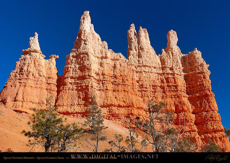 Queen Victoria Hoodoo Formation, Queen's Garden Trail, Bryce Canyon National Park, Utah