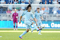 Roger Espinoza.(15) Sporting KC midfielder in action... Sporting KC defeated FC Dallas 2-1 at LIVESTRONG Sporting Park, Kansas City, Kansas.