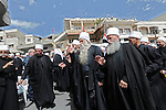 Druze Sheikhs during a pro-Syrian demonstration on the Syrian independence day, in Majdal Shams, Golan Heights.