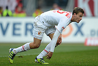 FUSSBALL   1. BUNDESLIGA  SAISON 2012/2013   8. Spieltag 1. FC Nuernberg - FC Augsburg       21.10.2012 Sebastian Langkamp (FC Augsburg)