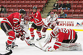 Jared Wilson (RPI - 13), Sean Malone (Harvard - 17), Tommy Grant (RPI - 4), Colin Blackwell (Harvard - 63), Jason Kasdorf (RPI - 33) - The Harvard University Crimson defeated the visiting Rensselaer Polytechnic Institute Engineers 5-2 in game 1 of their ECAC quarterfinal series on Friday, March 11, 2016, at Bright-Landry Hockey Center in Boston, Massachusetts.
