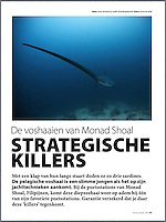 Article in the Dutch dive magazine DUIKEN about Thresher sharks, Monad Shoal and the Thresher shark Research and Conservation Project.