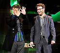 "Michel Gondry and Seth Rogen, Jan 20 2011 : Director Michel Gondry(L) and actor Seth Rogen attend the Japan premiere for the film ""Green hornet"" in Tokyo, Japan, on January 20, 2011."