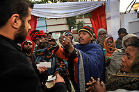 Professional beggars hassle the groom at a party before the wedding of British/Punjabi couple Lindsay and Navneet Singh.