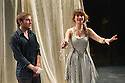 London, UK. 09.11.2012. Anton Chekhov's THE SEAGULL, in a new version by Anya Reiss, opens at Southwark Playhouse. Picture shows: Lily James (Nina) and Joseph Drake (Konstantin). Photo credit: Jane Hobson.