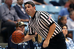 02 November 2016: Referee Michael DoCouto. The University of North Carolina Tar Heels hosted the Carson-Newman University Lady Eagles at Carmichael Arena in Chapel Hill, North Carolina in a 2016-17 NCAA Women's Basketball exhibition game. UNC won the game 96-70.