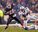 17 December 2006: Buffalo Bills running back Anthony Thomas (28) in action against the Miami Dolphins at Ralph Wilson Stadium in Orchard Park, New York. The Bills defeated the Dolphins 21-0.. .Mandatory Photo Credit: Ed Wolfstein Photo<br />