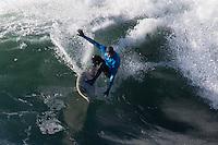 Half Moon Bay - Ca, Sunday, January 20, 2013: Greg Long competes during the 2013 Mavericks Invitational..