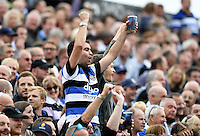 A Bath Rugby supporter celebrates. Aviva Premiership match, between Bath Rugby and Worcester Warriors on September 17, 2016 at the Recreation Ground in Bath, England. Photo by: Joseph Meredith / JMP for Onside Images