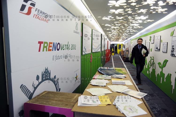 Roma, 6 Marzo 2012.Stazione Termini.Presentazione della XXIII edizione del Treno Verde di Legambiente.