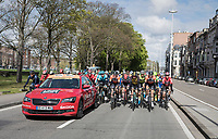 peloton leaving Li&egrave;ge <br /> <br /> 103rd Li&egrave;ge-Bastogne-Li&egrave;ge 2017 (1.UWT)<br /> One Day Race: Li&egrave;ge &rsaquo; Ans (258km)