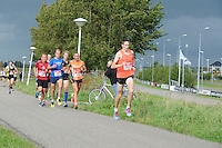 ATLETIEK: SNEEK: 30-08-2014, 20 km. Sneek-Bolsward-Sneek, Winnaar Jan Venhuizen (700), Riekele Kobes (757), ©foto Martin de Jong