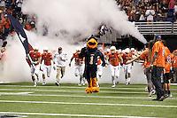 SAN ANTONIO, TX - OCTOBER 25, 2014: The University of Texas at El Paso Miners defeat the University of Texas at San Antonio Roadrunners 34-0 at the Alamodome. (Photo by Jeff Huehn)