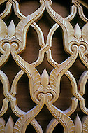 March 9, 1989, Casablanca, Morocco. Details of the art crafts of the Hassan II Mosque. The mosque was completed in 1993.