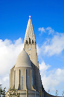 "The Hallgrimskirkja ""church of Hallgrímur"". A Lutheran parish church in Reykjavík, the capital of Iceland."