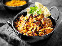 Chicken Tikka Byriani . Indian food recipe pictures, photos & images