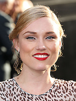 """HOLLYWOOD, LOS ANGELES, CA, USA - MAY 08: Clare Grant at the Los Angeles Premiere Of Warner Bros. Pictures And Legendary Pictures' """"Godzilla"""" held at Dolby Theatre on May 8, 2014 in Hollywood, Los Angeles, California, United States. (Photo by Xavier Collin/Celebrity Monitor)"""