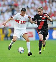 FUSSBALL   1. BUNDESLIGA  SAISON 2011/2012   3. Spieltag     20.08.2011 VfB Stuttgart - Bayer Leverkusen        Khalid Boulahrouz (VfB Stuttgart,li) gegen Andre Schuerrle (Bayer 04 Leverkusen)