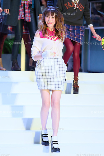 "Lena Fujii, Sep 23, 2013 : Japanese fashion model Lena Fujii attends a event ""UNIQLO Fashion Festival"" in Tokyo on September 23, 2013. (Photo by Yohei Osada/AFLO)"