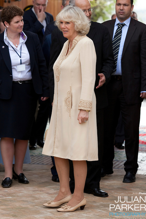 The Prince of Wales, and The Duchess of Cornwall on a three day official visit to Morocco..The Prince of Wales, and The Duchess of Cornwall visits the Artisanal Training centre, in Fez, Morocco.