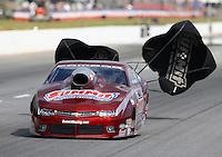 May 16, 2015; Commerce, GA, USA; NHRA pro stock driver Greg Anderson during qualifying for the Southern Nationals at Atlanta Dragway. Mandatory Credit: Mark J. Rebilas-USA TODAY Sports