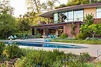 Coyote House, SITES® residential home with sustainable garden and swimming pool, Santa Barbara California, Susan Van Atta design