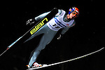 JURE BOGATAJ of Slovenia soars through the air during the FIS World Cup Ski Jumping in Sapporo, northern Japan in February, 2008.