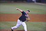 Ole Miss' R.J. Hively pitches vs. LSU in Oxford, Miss. on Friday, May 4, 2012. LSU won 4-3 in 13 innings.