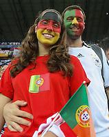 09.06.2012, LWOW, PILKA NOZNA, FOOTBALL, MISTRZOSTWA EUROPY W PILCE NOZNEJ, EURO 2012, FOOTBALL EUROPEAN CHAMPIONSHIP,  NIEMCY - PORTUGALIA, GERMANY - PORTUGAL, KIBICE NIEMIEC I PORTUGALII, FOT. TOMASZ JASTRZEBOWSKI / FOTO OLIMPIK