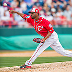 5 March 2016: Washington Nationals pitcher Wander Suero on the mound during a Spring Training pre-season game against the Detroit Tigers at Space Coast Stadium in Viera, Florida. The Nationals defeated the Tigers 8-4 in Grapefruit League play. Mandatory Credit: Ed Wolfstein Photo *** RAW (NEF) Image File Available ***