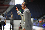 "Ole Miss coach Brett Frank vs. UMass at the C.M. ""Tad"" Smith Coliseum in Oxford, Miss. on Saturday, December 8, 2012."