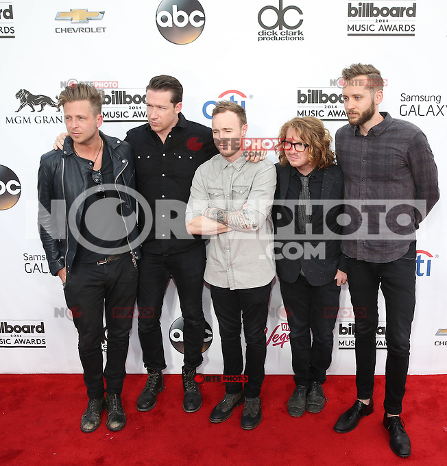 LAS VEGAS, NV - May 18 : One Republic pictured at 2014 Billboard Music Awards at MGM Grand in Las Vegas, NV on May 18, 2014. ©EK/Starlitepics