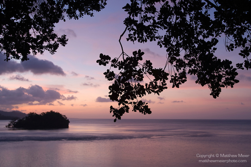Milne Bay, Papua New Guinea; sunset views of Milne Bay from Tawali Resort , Copyright © Matthew Meier, matthewmeierphoto.com