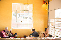 DURHAM, N.C. Tuesday August 5, 2014 - Patrons during the morning rush at Cocoa Cinnamon in Durham, N.C. (Justin Cook for The New York Times)