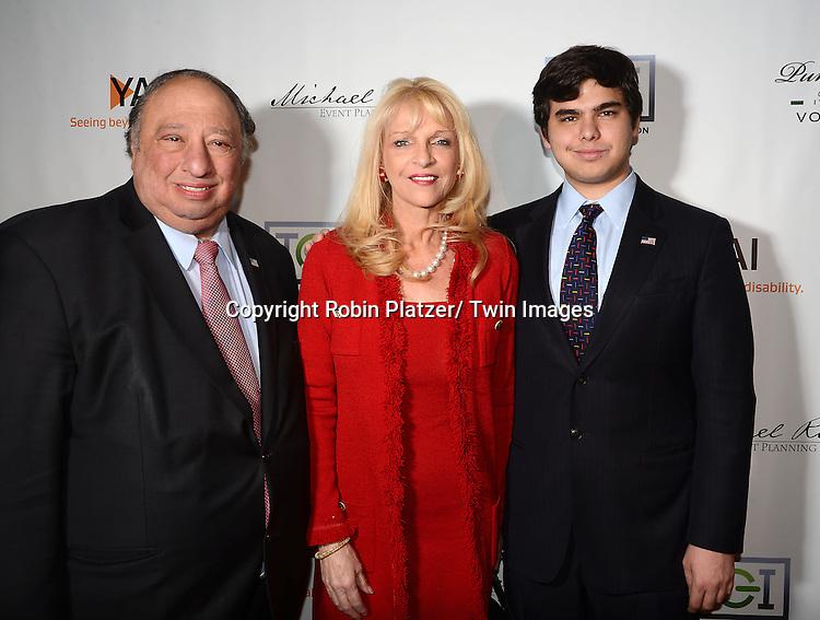 Margot and John Catsimatidisand son John attend YAI's 56th Anniversary Gala on November 13, 2013 at Guastavino's in New York City.