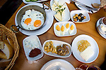 Breakfast dishes in Istanbul, Turkey