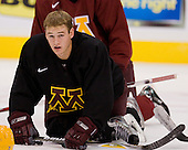 Kevin Wehrs (Minnesota 2) takes part in the Gophers' morning skate at the Xcel Energy Center in St. Paul, Minnesota, on Friday, October 12, 2007, during the Ice Breaker Invitational.